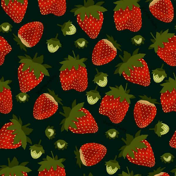 Strawberry Pattern Marlene Pixley Adorable Strawberry Pattern